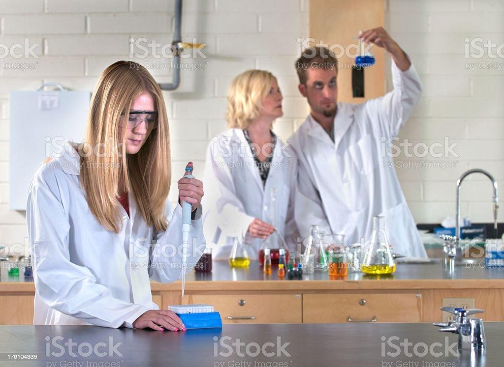 Lab Technicians royalty-free stock photo