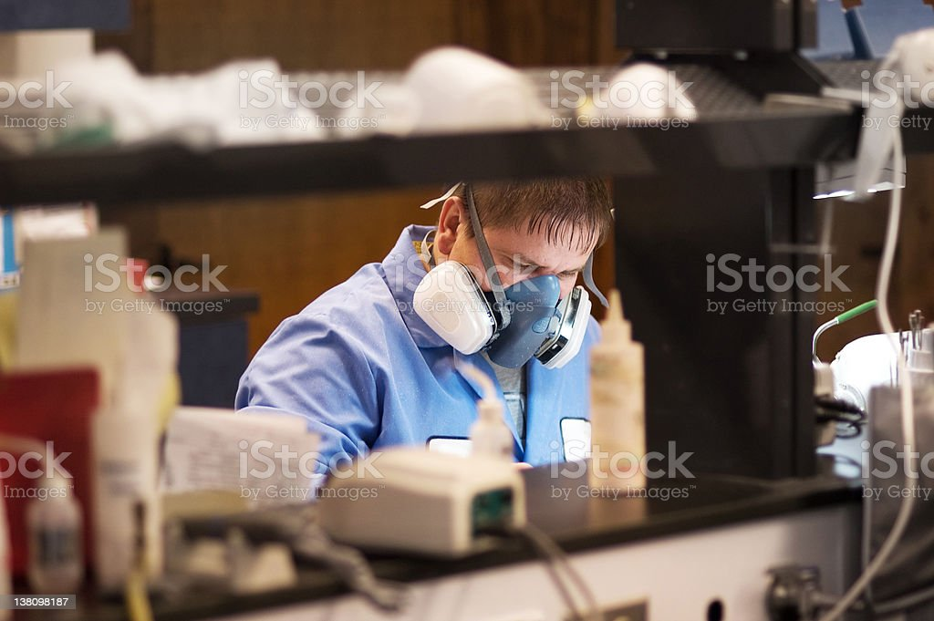 Lab Worker stock photo