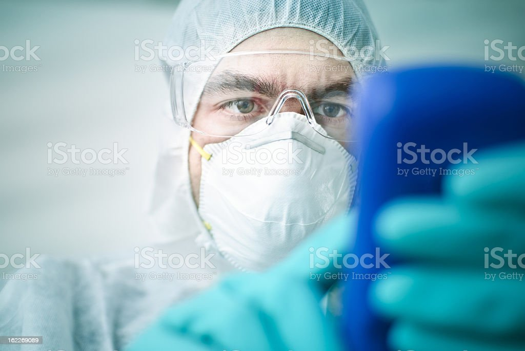 Lab Worker royalty-free stock photo