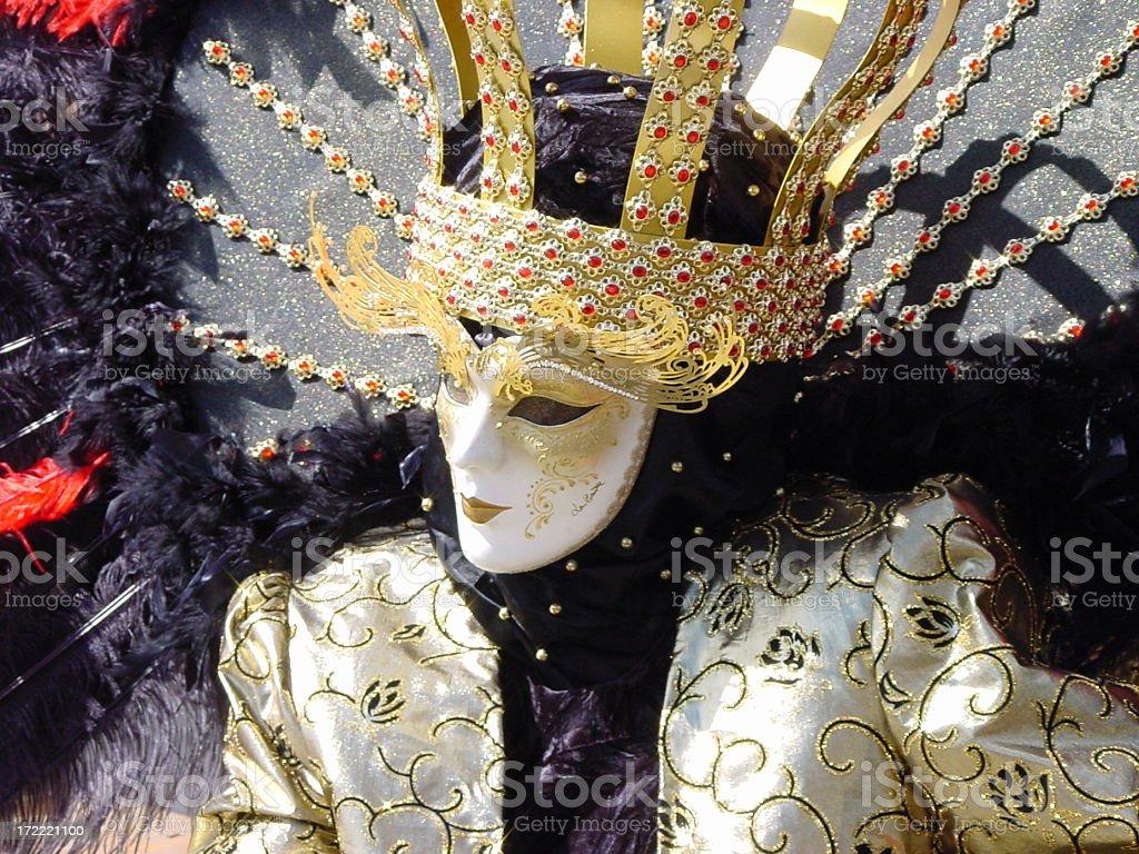 LaBeaute on Venetian carneval stock photo