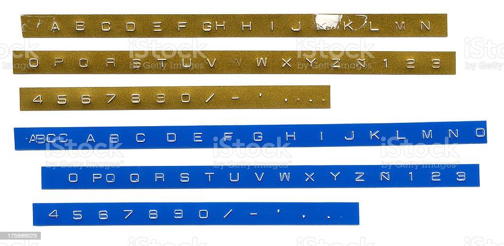 Label Alphabet stock photo