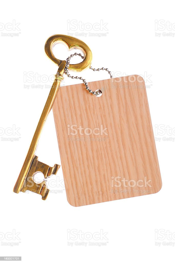 Label and key stock photo