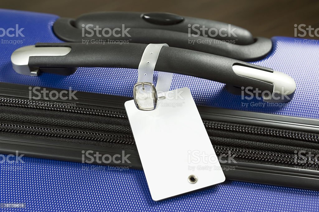 Label and Luggage royalty-free stock photo