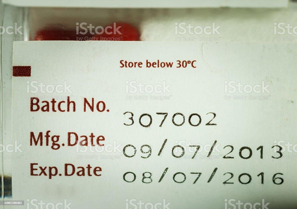 label expiration stock photo