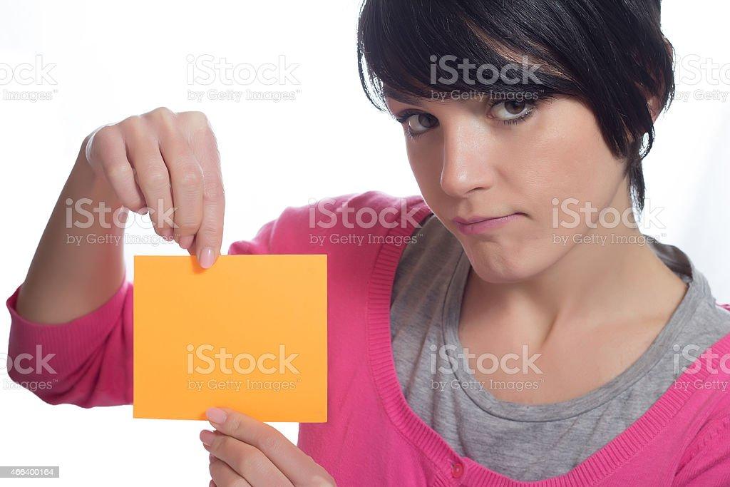 Label Girl stock photo
