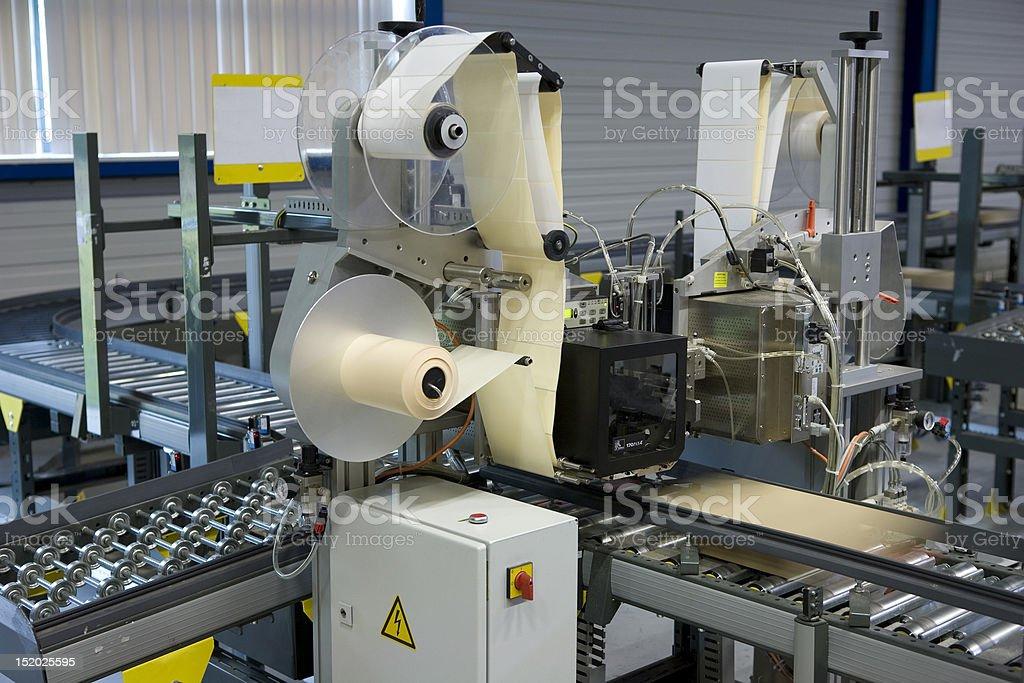 Label machine royalty-free stock photo
