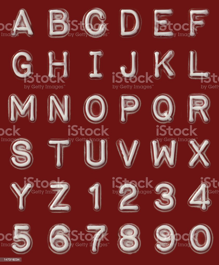 Label Maker Letters & Numbers royalty-free stock photo