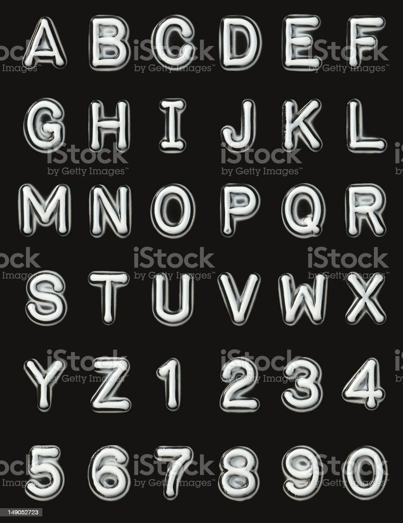 Label Maker Letters & Numbers stock photo