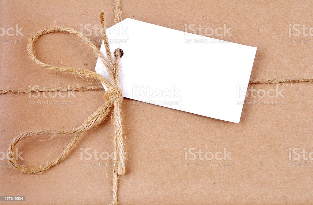 Label on a parcel post royalty-free stock photo