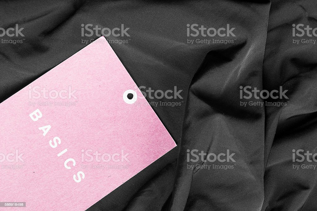 Label on cloth stock photo
