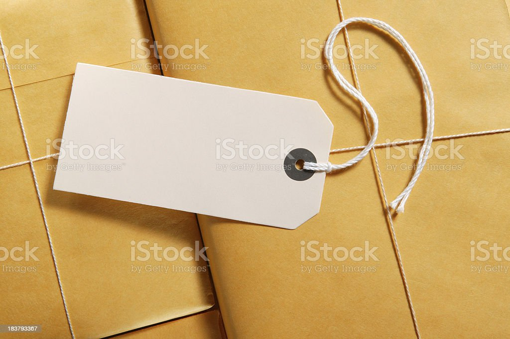 label on packages stock photo