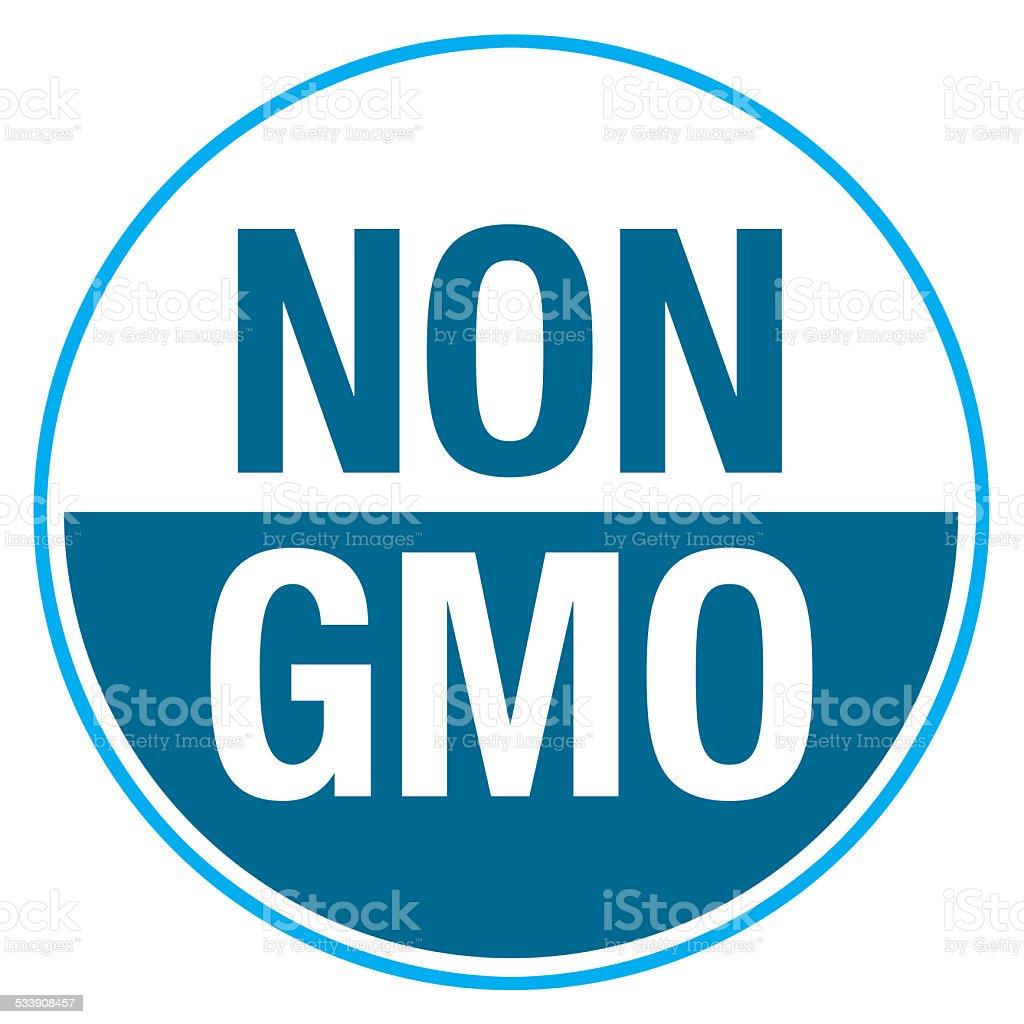 NON GMO Label stock photo