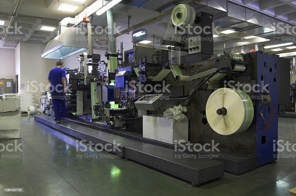 label printer royalty-free stock photo