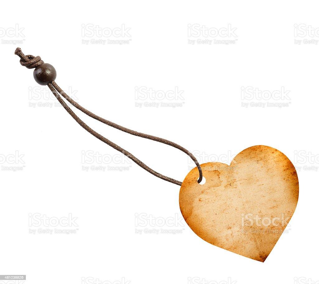 label shaped  Heart stock photo