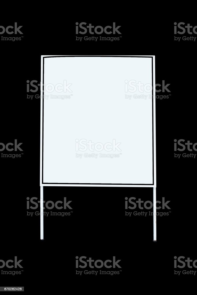 Label signs advertise white board on background stock photo