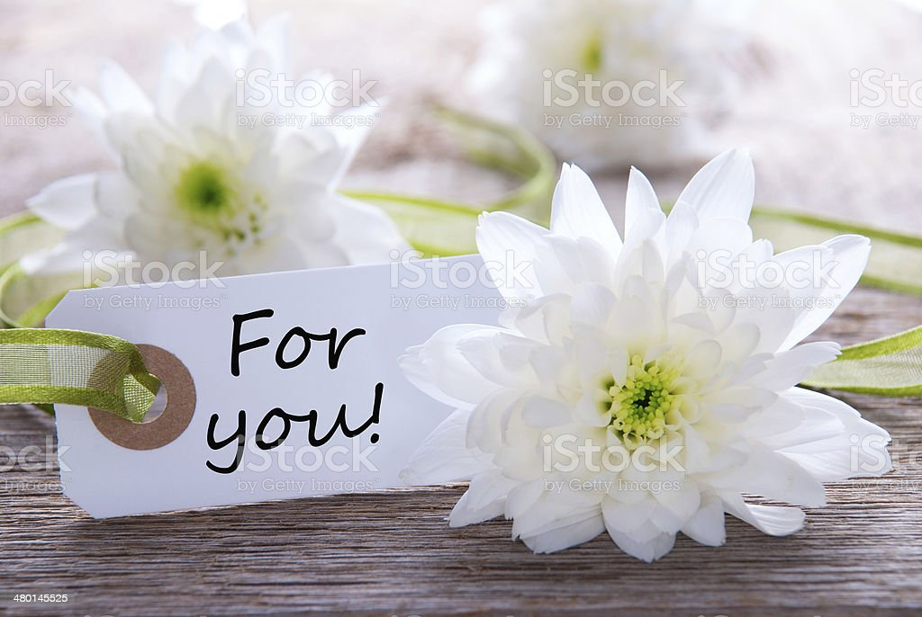 Label with For You stock photo
