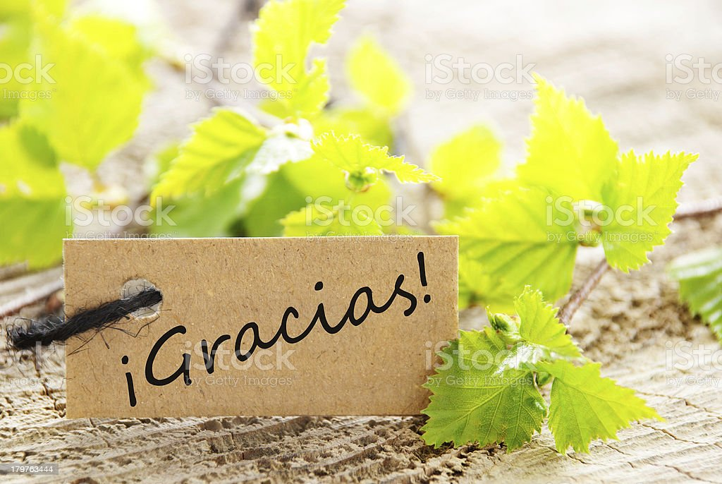 Label With Gracias royalty-free stock photo
