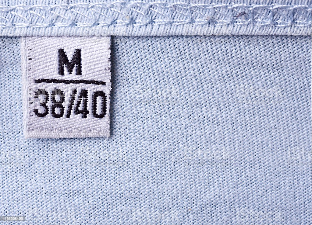 Label with M size royalty-free stock photo