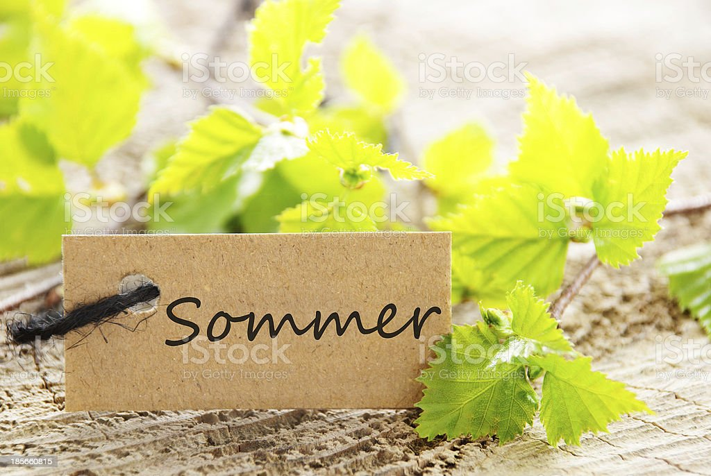 label with Sommer royalty-free stock photo