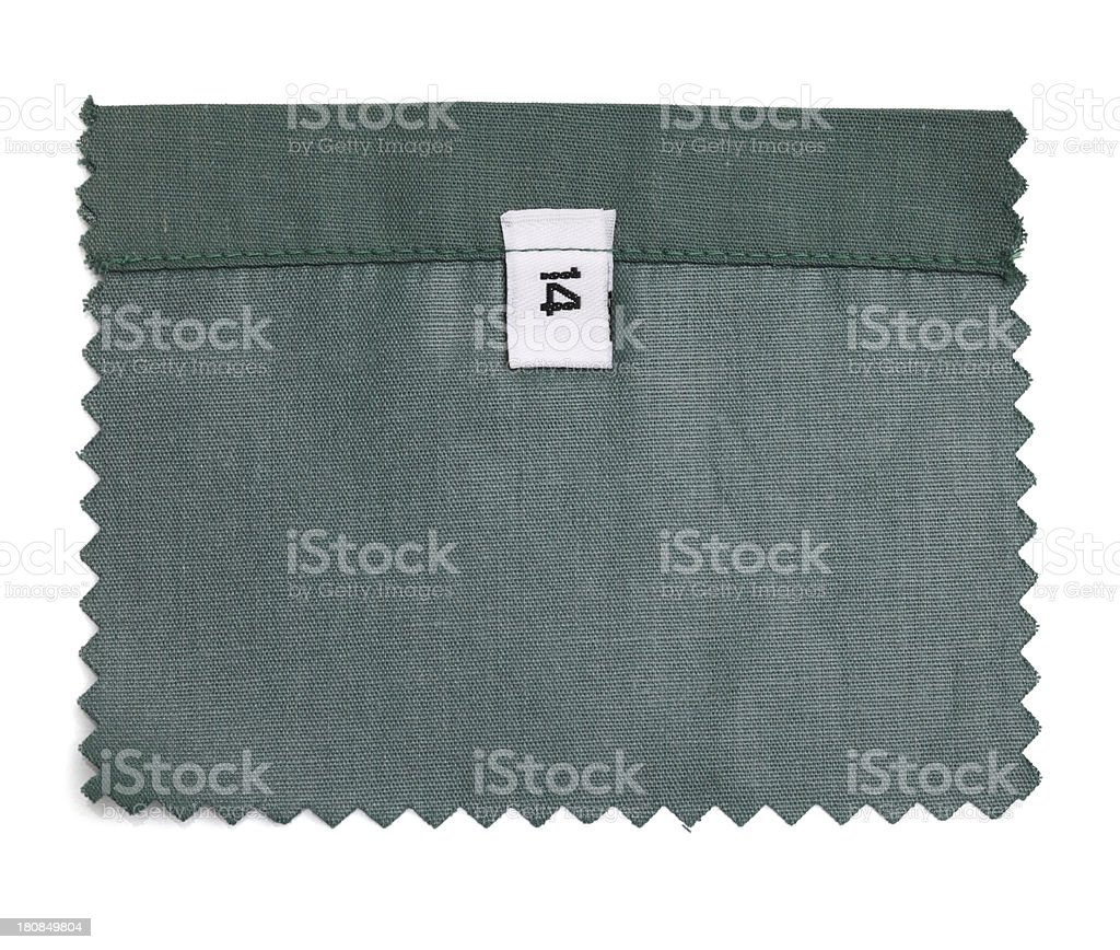 14 Labeled Green Fabric Swatch royalty-free stock photo