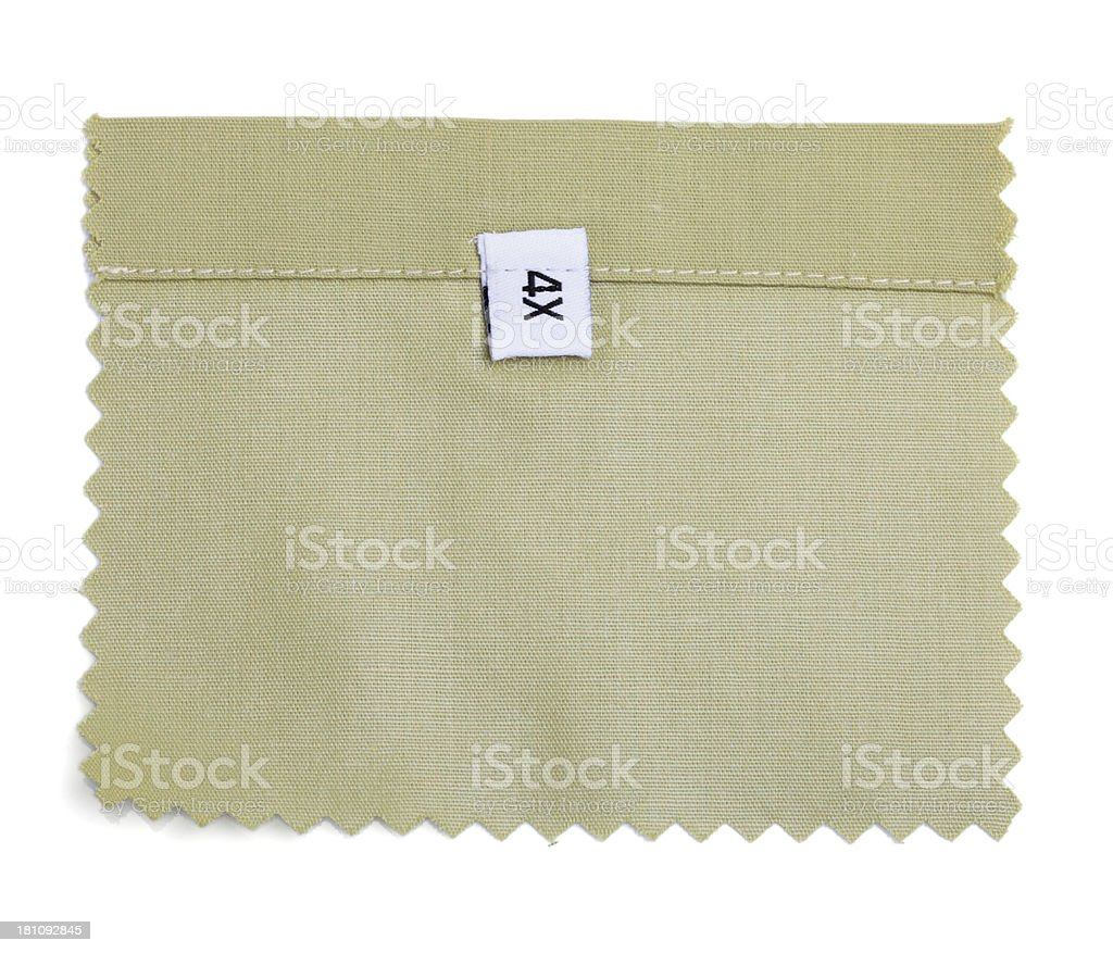 4X Labeled Green Fabric Swatch royalty-free stock photo