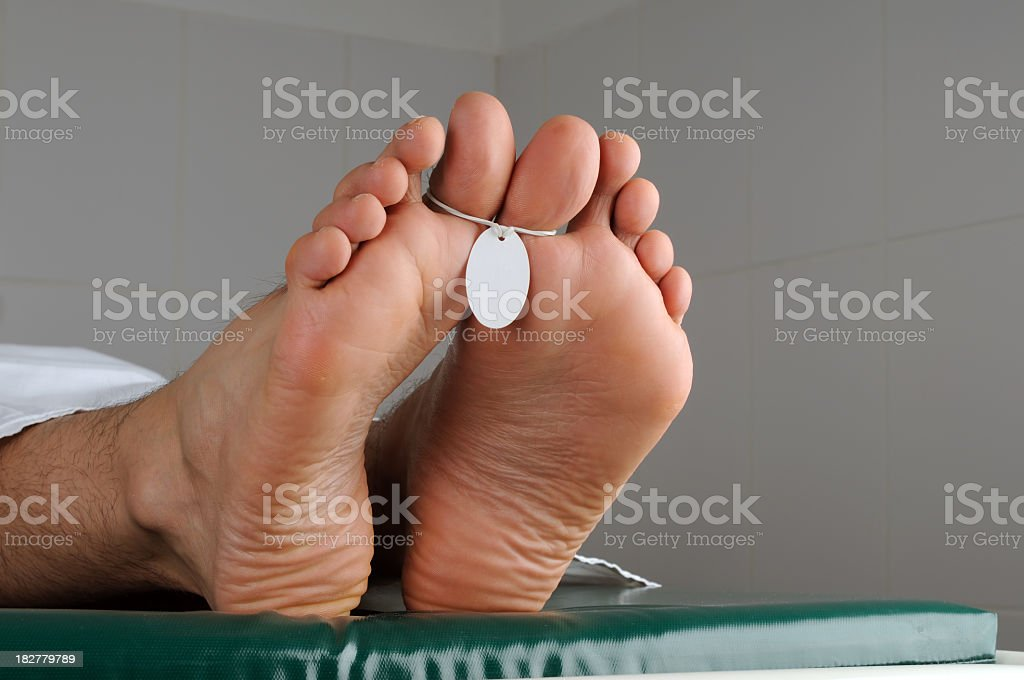 Labeled Human Foot stock photo