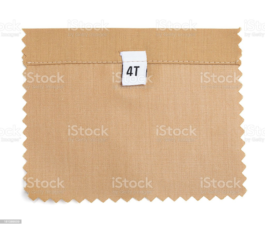 4T Labeled Orange Fabric Swatch royalty-free stock photo