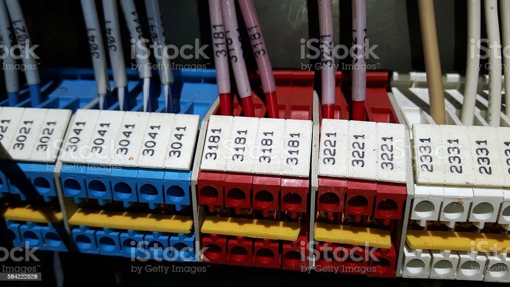 Labeled Terminal Strip stock photo