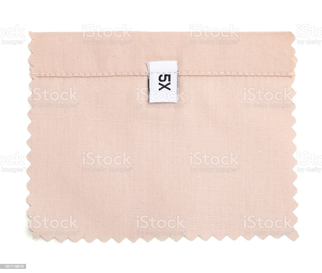 5X Labeled White Fabric Swatch royalty-free stock photo