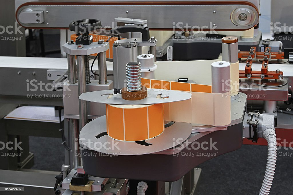 Labeling machine royalty-free stock photo