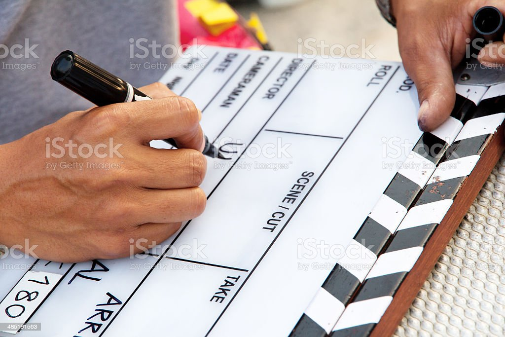 Labeling the Slate stock photo