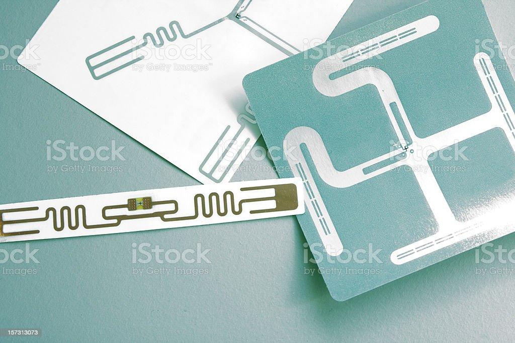 RFID labels stock photo