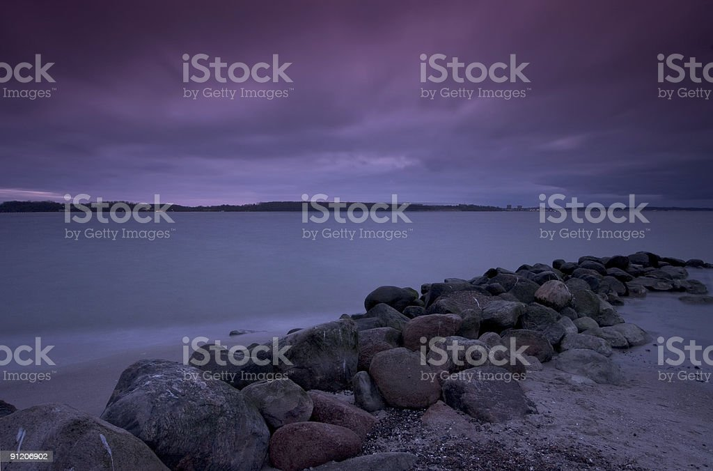 Laboe Sunset royalty-free stock photo