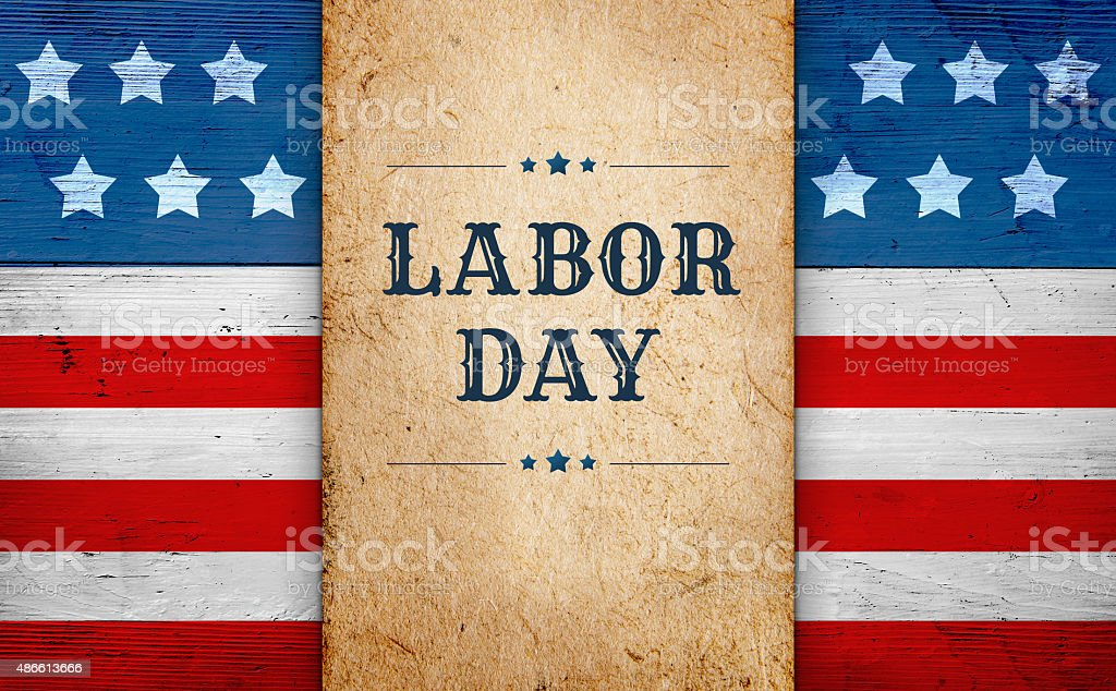 Labor Day background stock photo