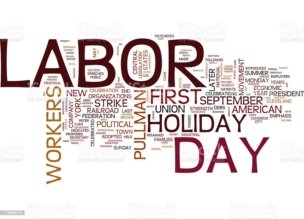 Labor Day collage concepts royalty-free stock photo