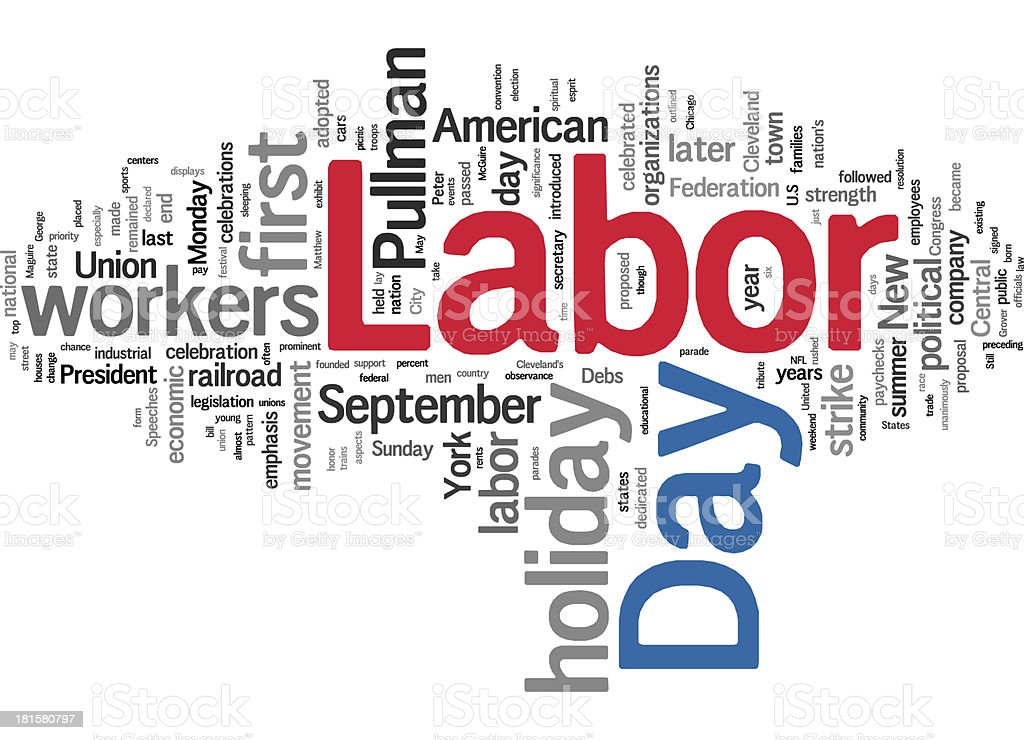 Labor Day collage concepts stock photo
