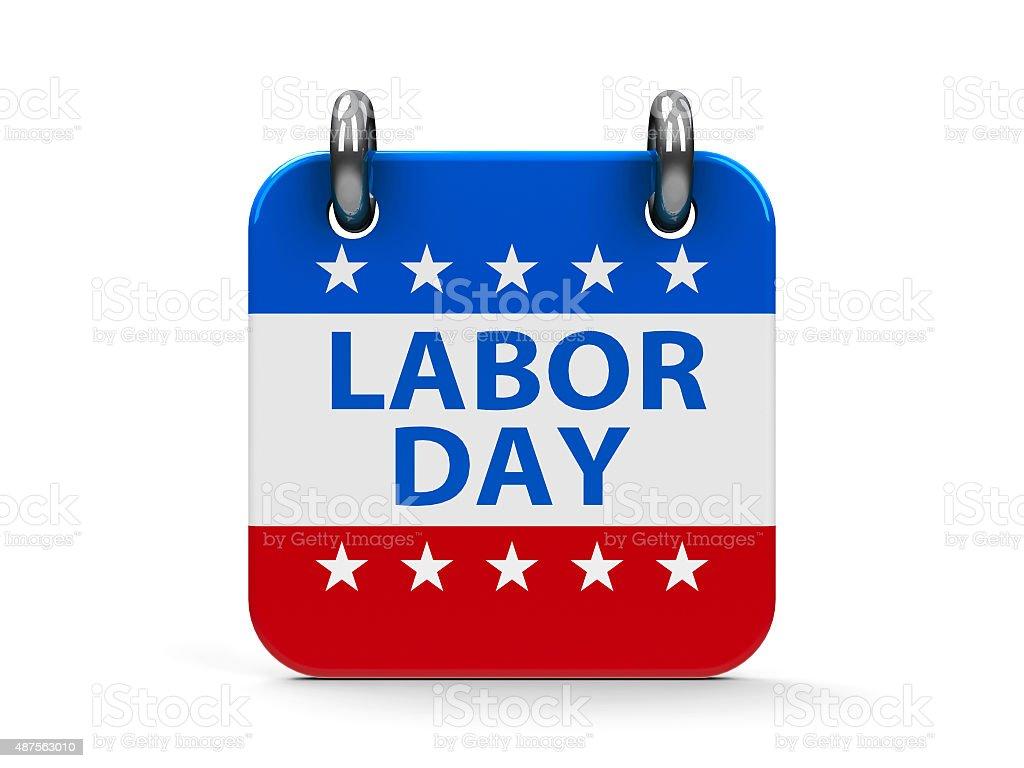 Labor day icon calendar stock photo