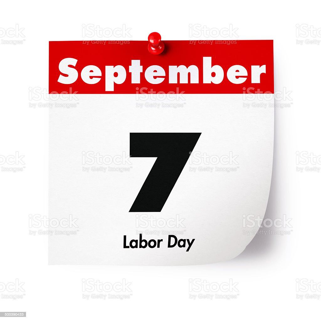 Labor Day in 2015 stock photo