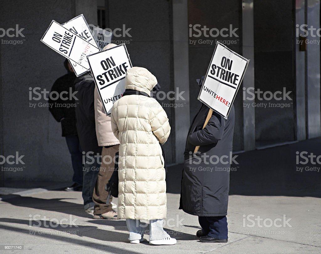 Labor Dispute royalty-free stock photo
