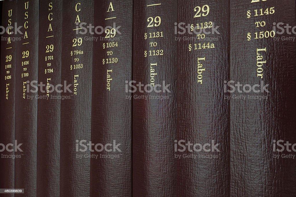 Labor Law Books stock photo