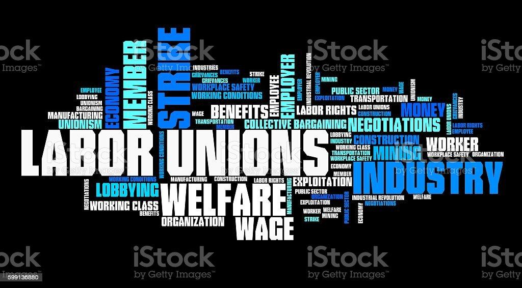 Labor unions stock photo