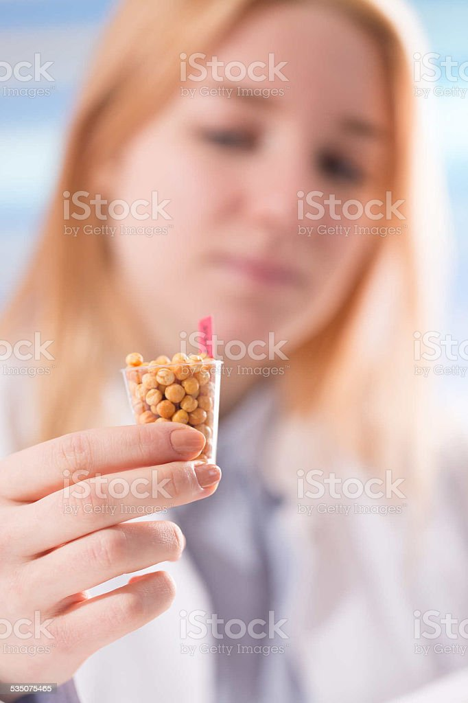 Laboratory assistant in the laboratory of of food quality stock photo