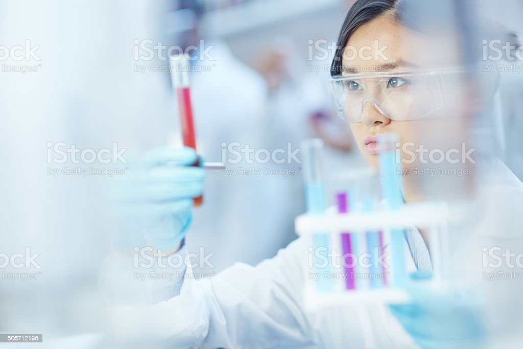 Laboratory assistant stock photo