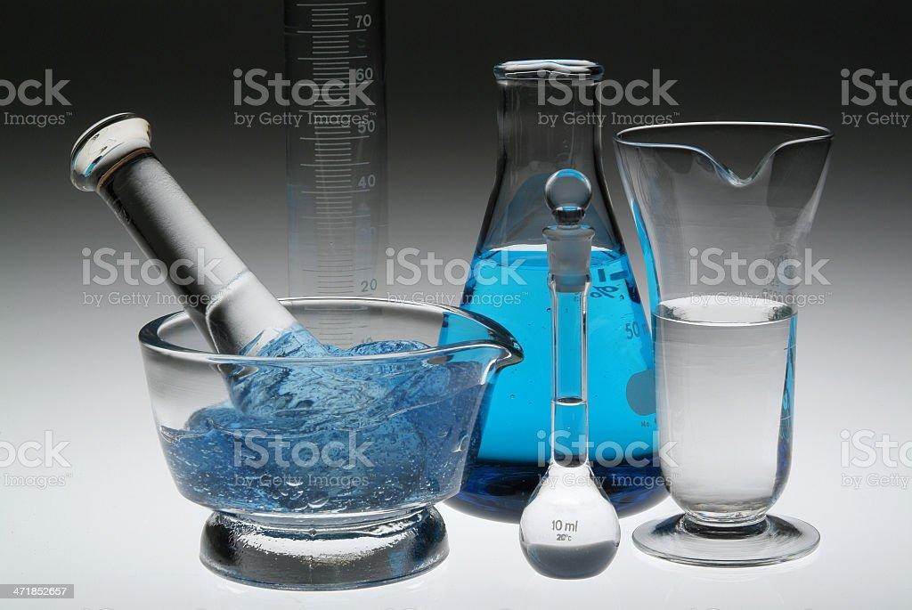 laboratory blue - dark background royalty-free stock photo
