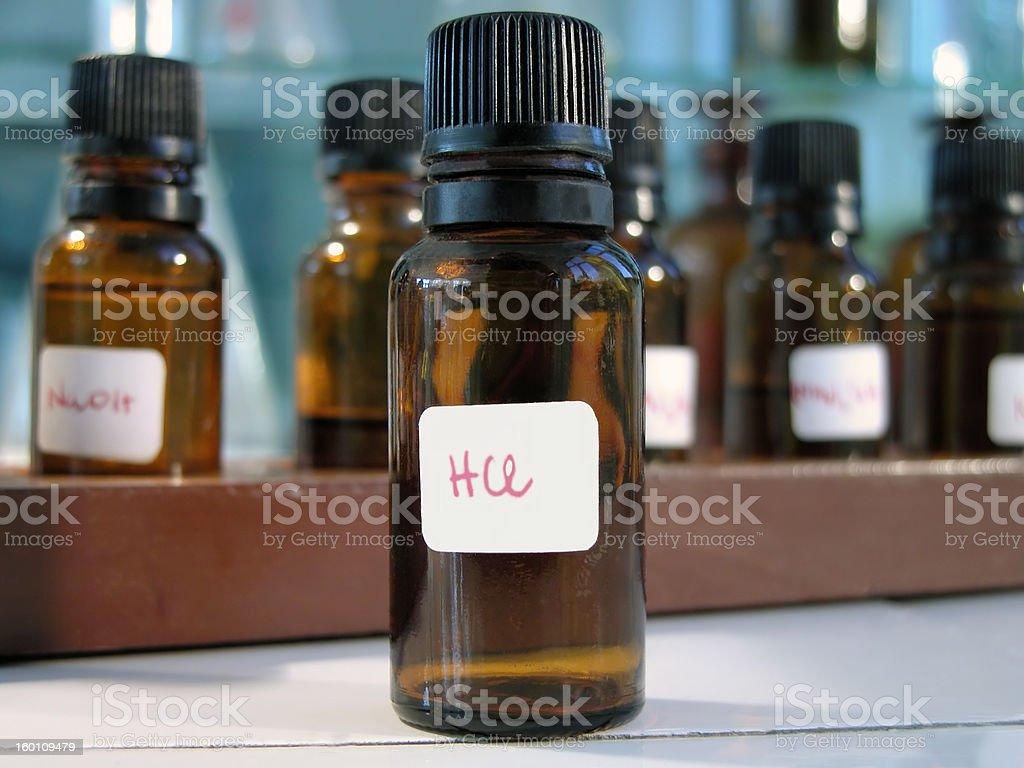 Laboratory bottles royalty-free stock photo