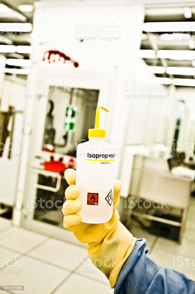 Laboratory Chemical Bottle stock photo