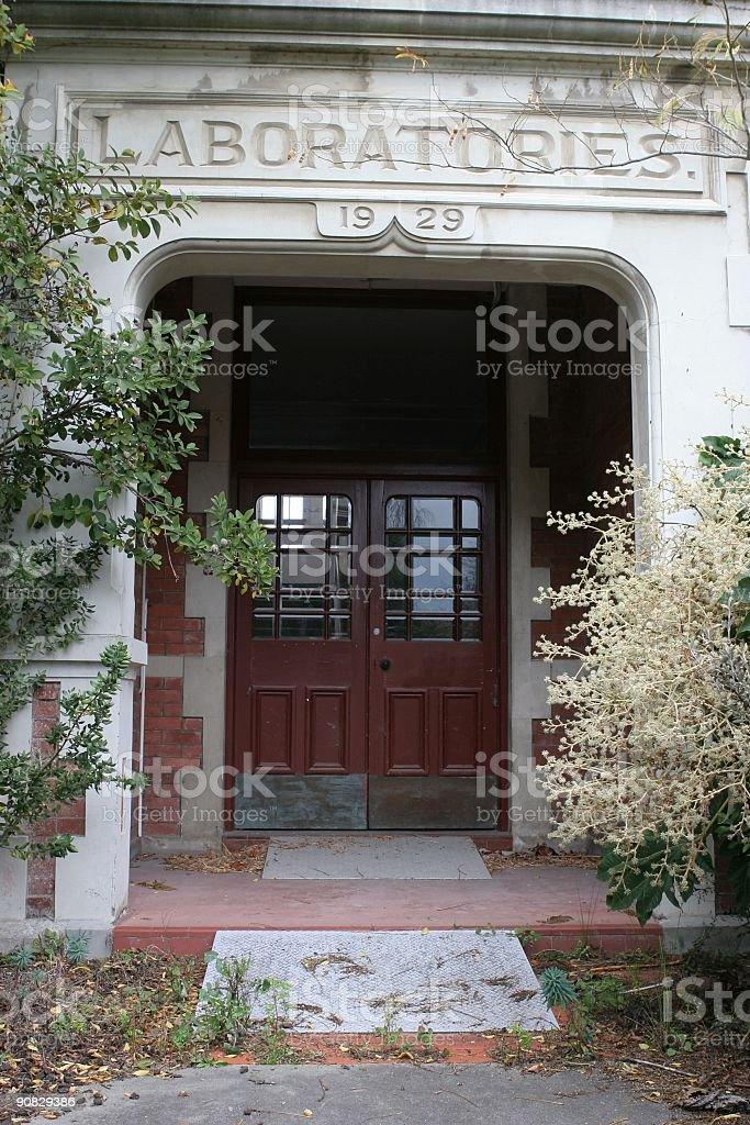 Laboratory entrance royalty-free stock photo