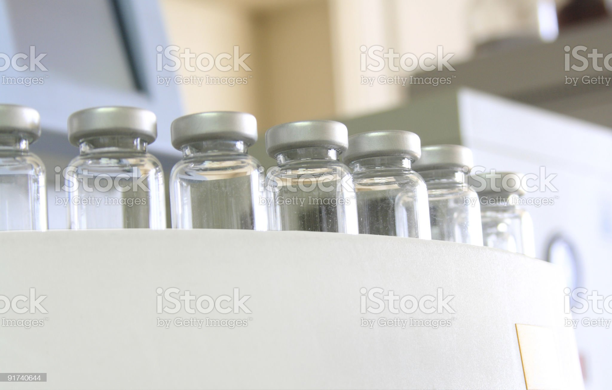 Laboratory Equipment.Gas Chromatograph Sampling royalty-free stock photo