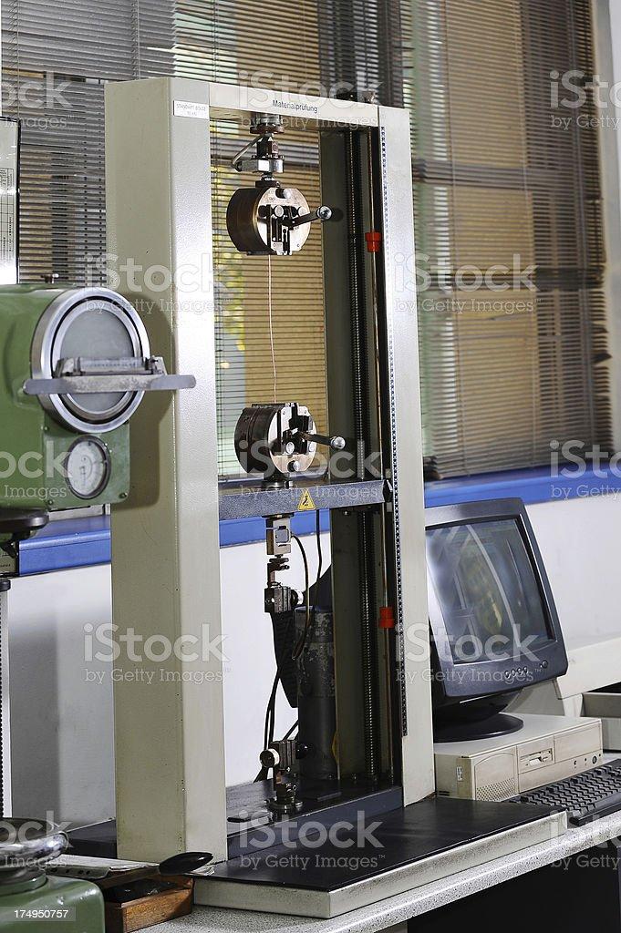 Laboratory equipment-tensile strenght analysis royalty-free stock photo