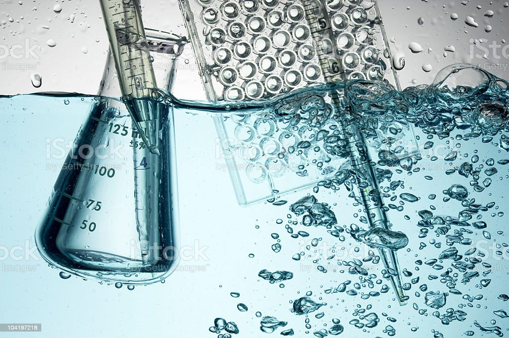 Laboratory glass royalty-free stock photo